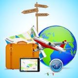 Conception de voyage Photos libres de droits