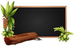 Conception de vue avec le rondin et les feuilles illustration de vecteur