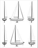 Conception de Wireframe de bateau Photos libres de droits