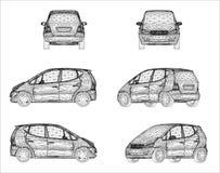 Conception de Wireframe de voiture Photographie stock