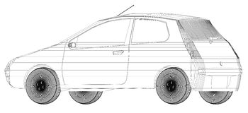 Conception de Wireframe de voiture Photo stock