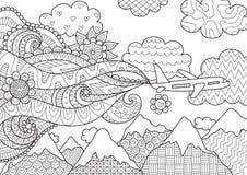 Conception de Zendoodle d'avion pour l'illustration Image libre de droits