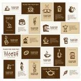 Conception des cartes de visite professionnelle de visite pour la compagnie de café Photo libre de droits