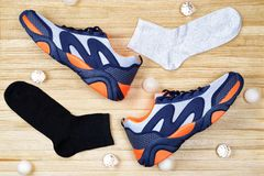 Conception des chaussures de sports photo libre de droits