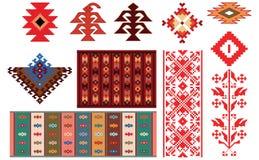 Conception des couvertures et des éléments bulgares traditionnels de folklore Photographie stock