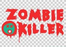 Conception des textes de floc de tueur de zombi illustration libre de droits