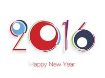 Conception des textes de la bonne année 2016 Images stock