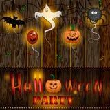 Conception des textes de partie de Halloween Images libres de droits