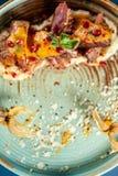 Conception dinante fine dans le restaurant Images stock