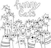 Conception drôle de chats Photographie stock