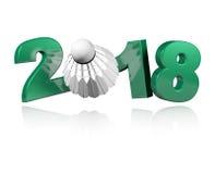 Conception du badminton 2018 Photos libres de droits