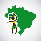 Conception du Brésil Photographie stock libre de droits
