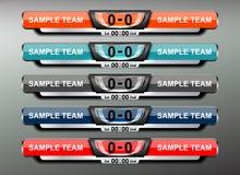 Conception du football de tableau indicateur Image libre de droits