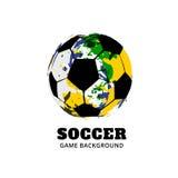 Conception du football du football du Brésil illustration libre de droits