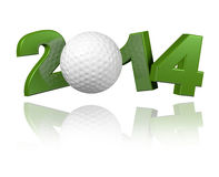 Conception du golf 2014 Image libre de droits