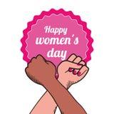 Conception du jour des femmes heureuses Photos libres de droits