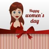 Conception du jour des femmes heureuses Photographie stock