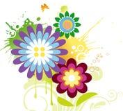 Conception dynamique de fleur illustration libre de droits