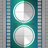 Conception Editable de fond de cinéma Éléments de vecteur Illustration minimale de film EPS10 Image stock