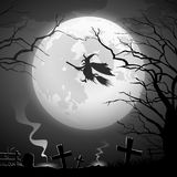 Conception effrayante de concept de tour de sorcière de partie de Halloween Photos libres de droits