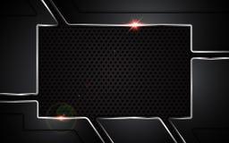 Conception en acier de fond de cadre de concept de sports de technologie de modèle de texture de plat métallique abstrait illustration de vecteur