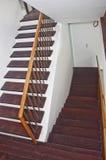 Conception en bois d'escaliers Photo stock