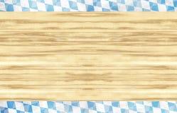 Conception en bois de drapeau d'Oktoberfest de la Bavière Photos stock