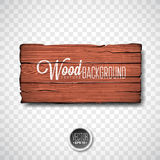 Conception en bois de fond de texture de vecteur Illustration en bois de vintage foncé naturel avec le conseil de style ancien su Photographie stock libre de droits