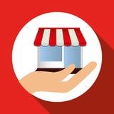Conception en ligne de achat, illustration de vecteur, illustration de vecteur Images libres de droits