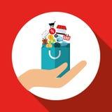 Conception en ligne de achat, illustration de vecteur, illustration de vecteur Image libre de droits