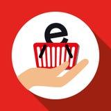Conception en ligne de achat, illustration de vecteur, illustration de vecteur Photographie stock libre de droits