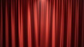 conception en soie rouge de luxe de décoration de rideaux en velours de l'illustration 3D, idées Rideau rouge en étape pour la sc Image stock