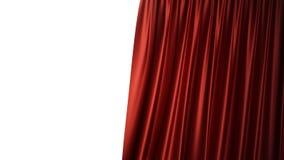 conception en soie rouge de luxe de décoration de rideaux en velours de l'illustration 3D, idées Rideau rouge en étape pour la sc Photographie stock