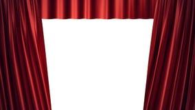 conception en soie rouge de luxe de décoration de rideaux en velours de l'illustration 3D, idées Rideau rouge en étape pour la sc Photo libre de droits