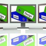 Conception et publicité de Content Screen Show Company Photographie stock libre de droits