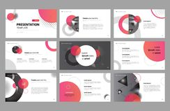 Conception et utilisation de calibre de mise en page de présentation d'affaires pour la brochure, le livre, la magazine, le rappo illustration stock