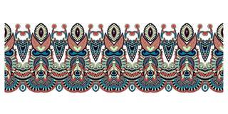 Conception ethnique de décoration de modèle, ornement de rayure à imprimer illustration de vecteur