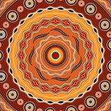 Conception ethnique de fond de cercle Ornement géométrique traditionnel australien illustration libre de droits