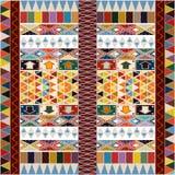 Conception ethnique de tapis Image libre de droits