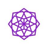 Conception ethnique pourpre ronde de Mandala Geometric Symbol Illustration Graphic illustration de vecteur