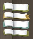 Conception exclusive de drapeaux illustration de vecteur