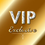 Conception exclusive de logo de VIP Concept de luxe Photographie stock libre de droits