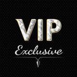 Conception exclusive de logo de VIP Concept de luxe Image stock