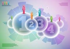 Conception expérimentale d'infographics. Photos libres de droits