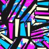 Conception extérieure de modèle, métier sans couture de main de graffiti expressif illustration libre de droits