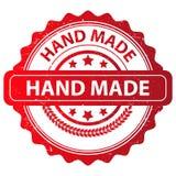 Conception fabriquée à la main rouge de timbre Photo stock