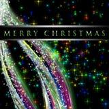 Conception fantastique d'onde de Noël Photos stock