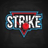 Conception finale de logo de bowling Photographie stock libre de droits