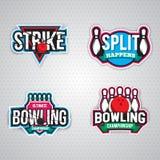 Conception finale de logo de chanpionship de bowling Photo stock