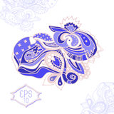 Conception fleurie aspiration de main de schéma illustration stock